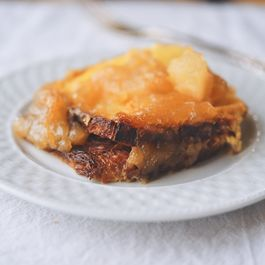 Baked Caramelized Apple and Pear French Toast