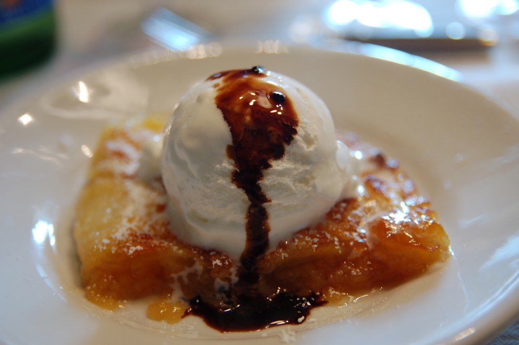 Tuscan Apple Tart with Gelato and Tradtional Balsamico