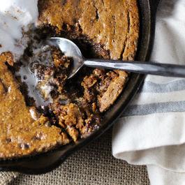 Skillet Pumpkin Chocolate Chip Cookie