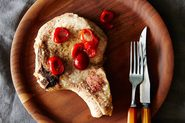 Pan-Fried Pork Chops with Vinegar Peppers