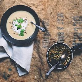 Creamy Leek and Apple Soup with Garam Masala