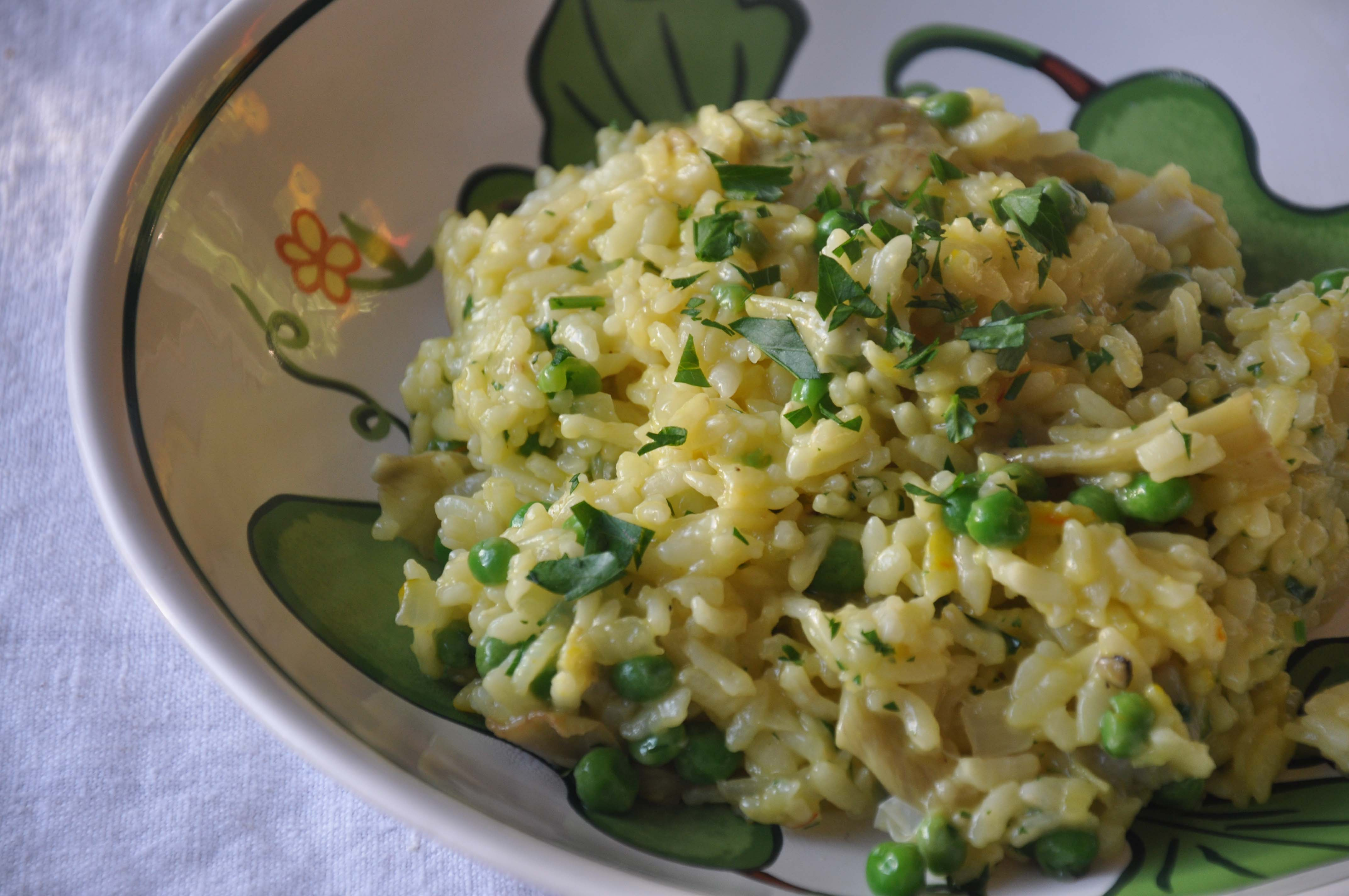 Pressure Cooker Saffron and Artichoke Risotto