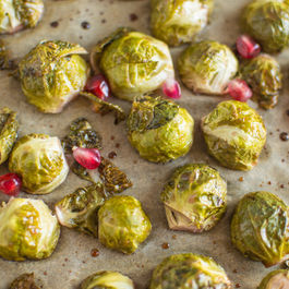 Pomegranate-Glazed Brussels Sprouts