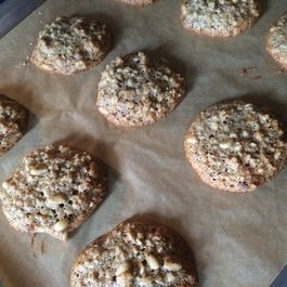 Somewhat Savory Walnut and Pine Nut Drop Cookies
