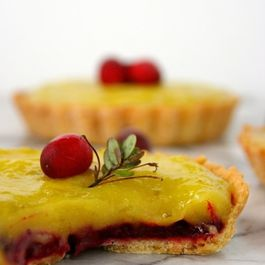 Cranberry and Lime Curd Tartlets
