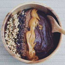 Chocolate Peanut Butter Protein Acai Bowl