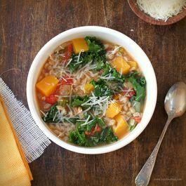 Farro, Kale and Butternut Squash Soup