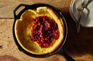 Dutch Baby with Cranberry Orange Compote