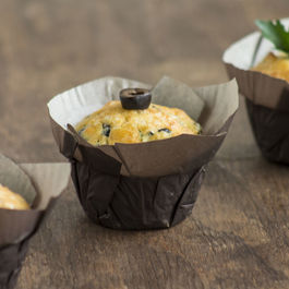 Mountain Muffins with Goat Cheese and Black Olives