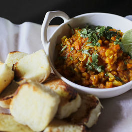 Pav Bhaji (Spicy Indian Vegetables with Buttery Bread Rolls)