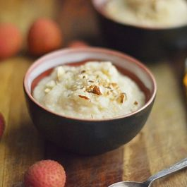 Lychee Rice Pudding