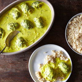 Punjabi Buttermilk Stew with Spinach Dumplings