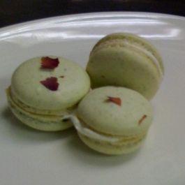 Pistachio Rose Macarons