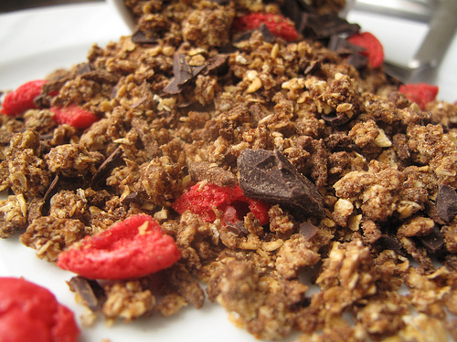 Chocolate and Macaron Oat crunch