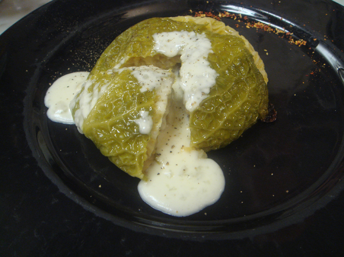 Verza Ripiena - Stuffed Savoy Cabbage