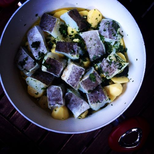 Ligurian salt cod and potatoes for Salted cod fish near me