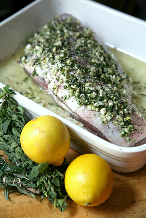 Greek-Style Marinated Leg of Lamb