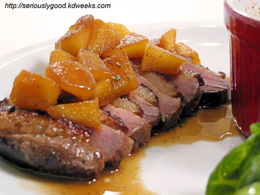 Pork Brined in Rum and Cider with Apples