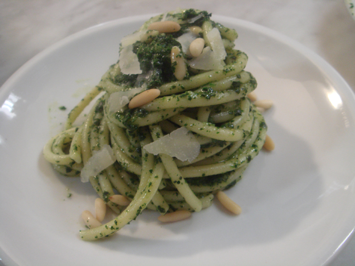 Pasta with Cavolo Nero Pesto