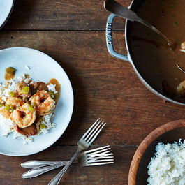 Alton Brown's Shrimp Gumbo