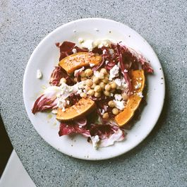Winter Salad With Roasted Pumpkin and Feta in an Egg Yolk Dressing
