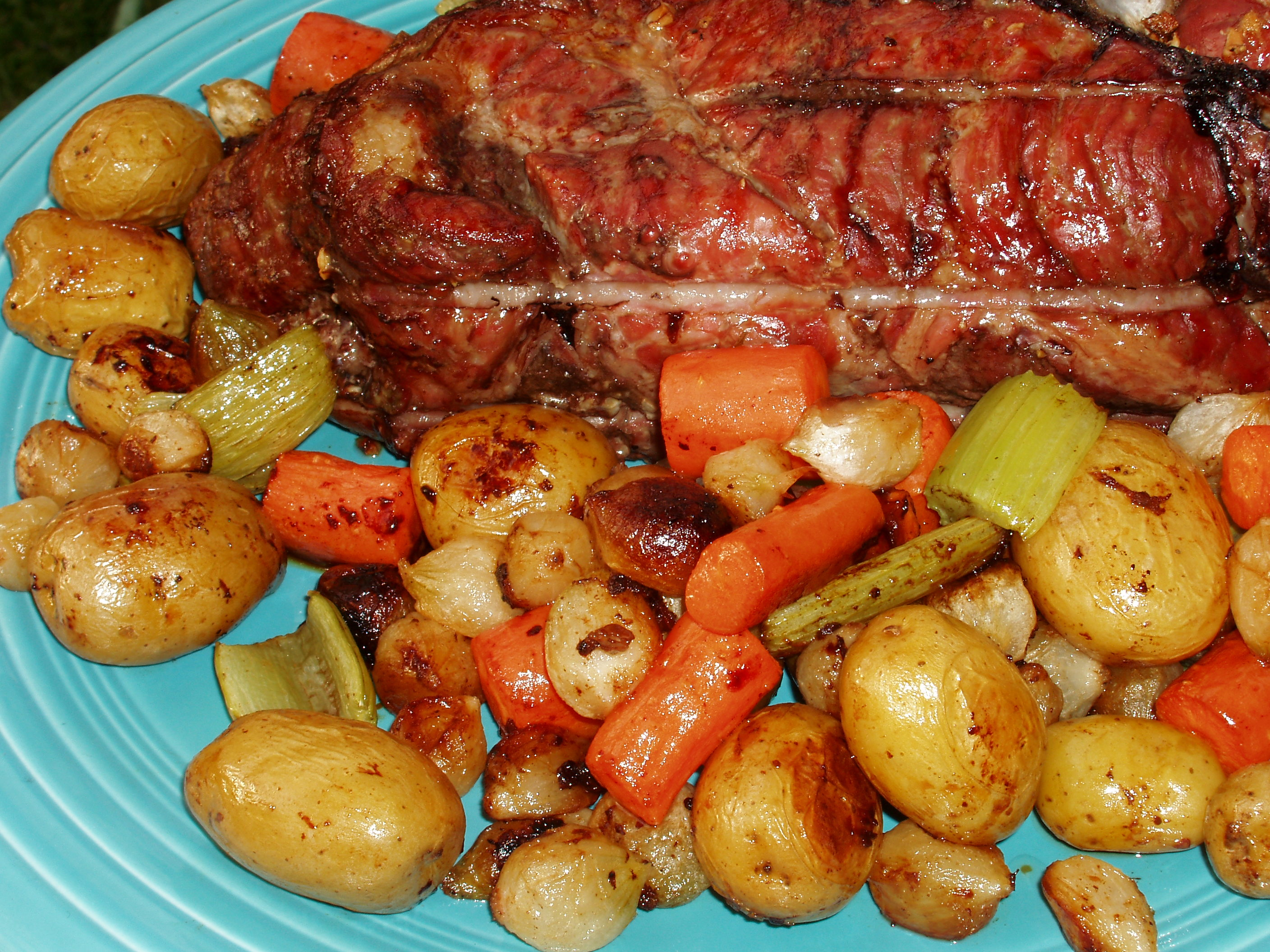 Simple Roast Pork and Vegetables