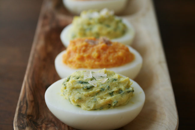Lemon-Basil Deviled Eggs