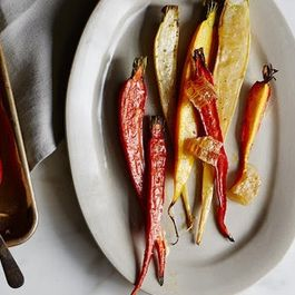 Mixed Colored Carrots with Preserved Lemon Butter and Honeycomb