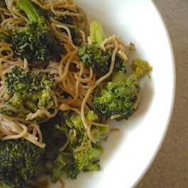 Somen with Broccoli, Butter and Soy