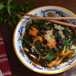 Mushroom & Vegetable Pho