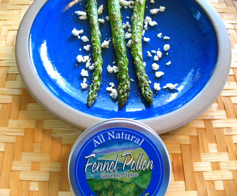 Roasted Asparagus with Fennel Pollen and Ricotta Salata
