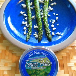 Roasted Asparagus with Fennel Pollen and Ricotta Salata