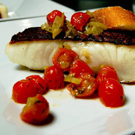 Chilean sea bass w/grape to