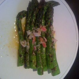 Grilled Green Asparagus with Shallot Vinaigrette