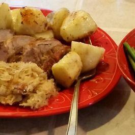 Scandinavian Roast Pork Loin with Saurkraut