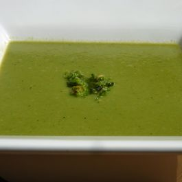 Romaine_pea_mint_soup_with_sorrel_spinach_pesto_medium_2_