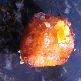 Ricotta Fritters w: Burnt Honey, Orange Salt, Pistachios & Bee Pollen