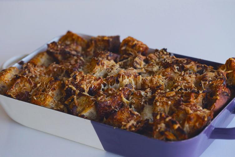Mushroom & Leek Bread Pudding