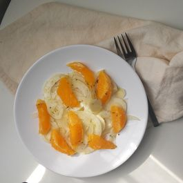 Orange Fennel Salad with White Balsamic Vinaigrette