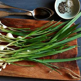 Garlicky Creamed Wild Onions