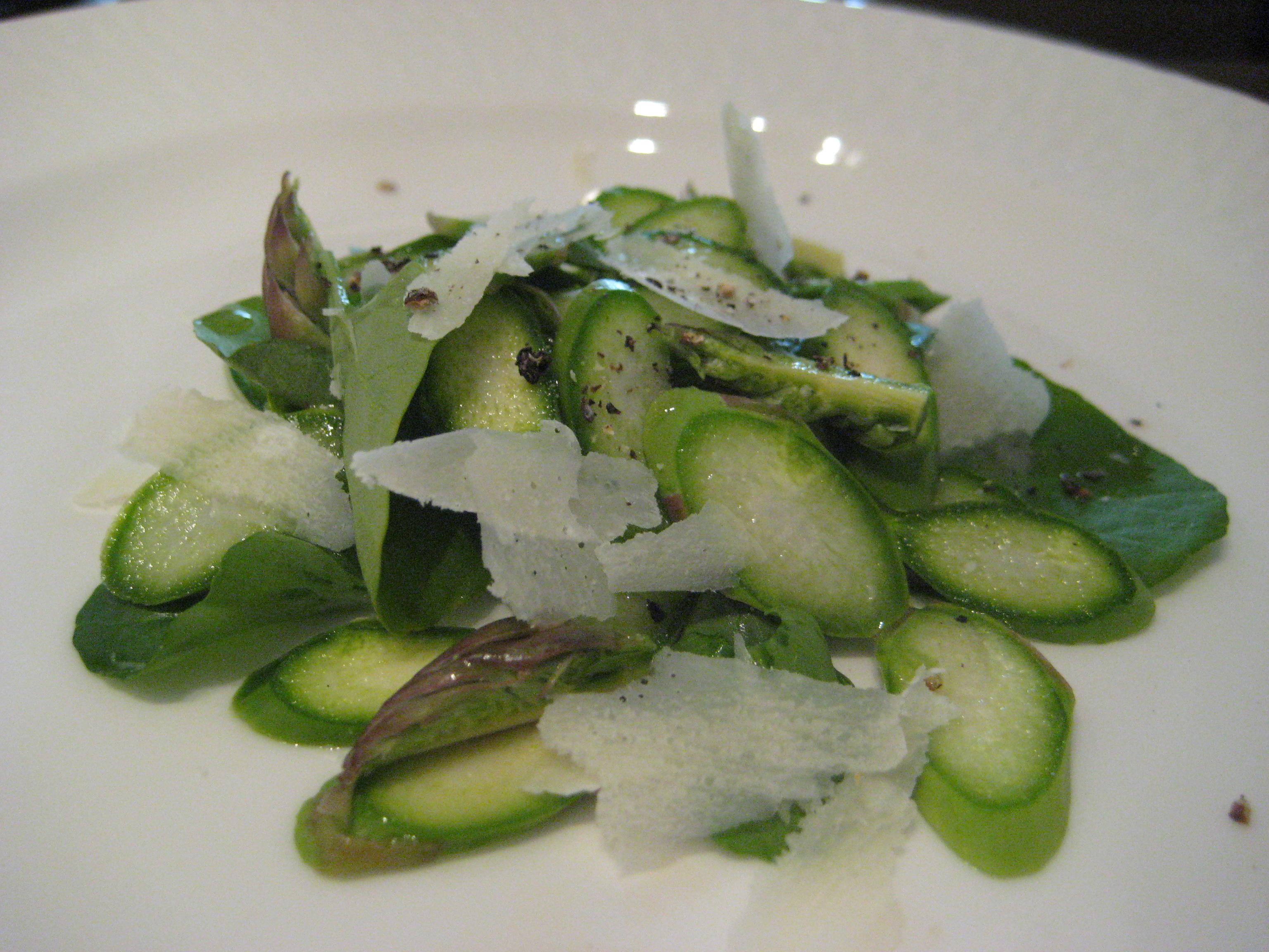 instant asparagus salad for 1