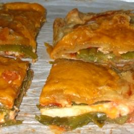 Chile Relleno Puff Pastry Tart