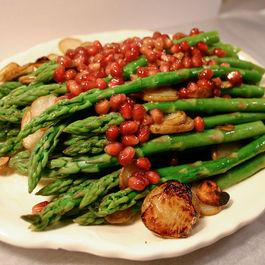 ASP - asparagus, sunchokes, pomegranate seeds