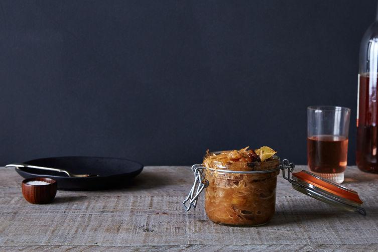 Caramelized Sauerkraut with Prunes, Herbs, and Honey