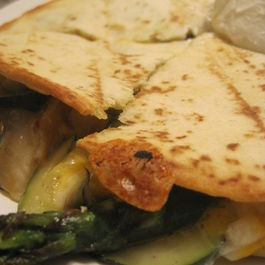 Asparagus and Zucchini Quesadillas