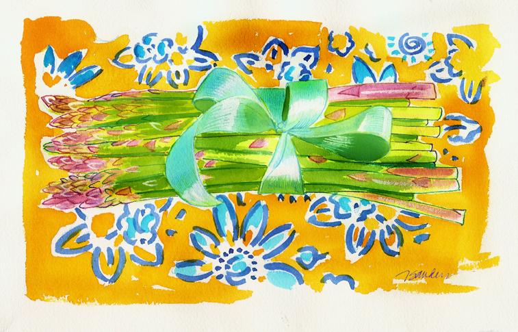 Springtime Asparagus by Nancy Taylor Robson