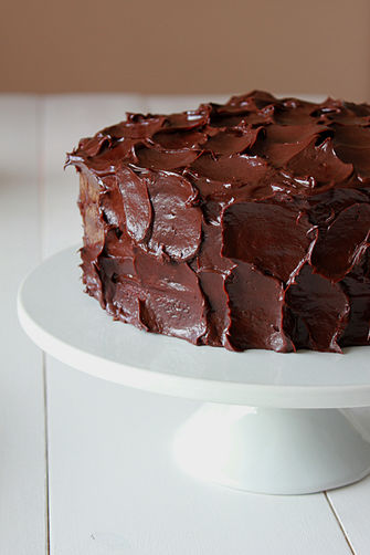 Chocolate devil's food cake with ganache frosting Recipe on Food52