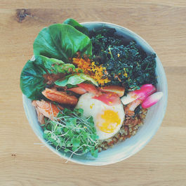Green Farro Bowl with Blood Orange Miso