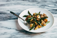 Roasted Potato, Sunchoke, and Asparagus Salad with Ramps