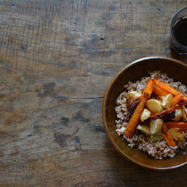 Roasted Turnips with Carrots and Farro